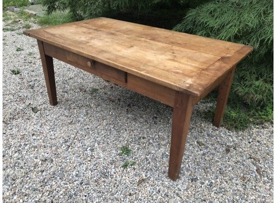 Vintage Pine Coffee Table With Storage Clearing House Estate S