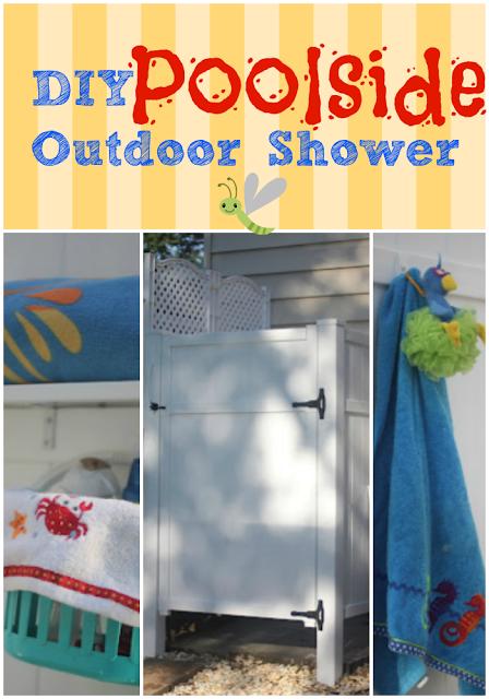 Diy Outdoor Shower Using Pvc Fence Panels Via Www 400 x 300