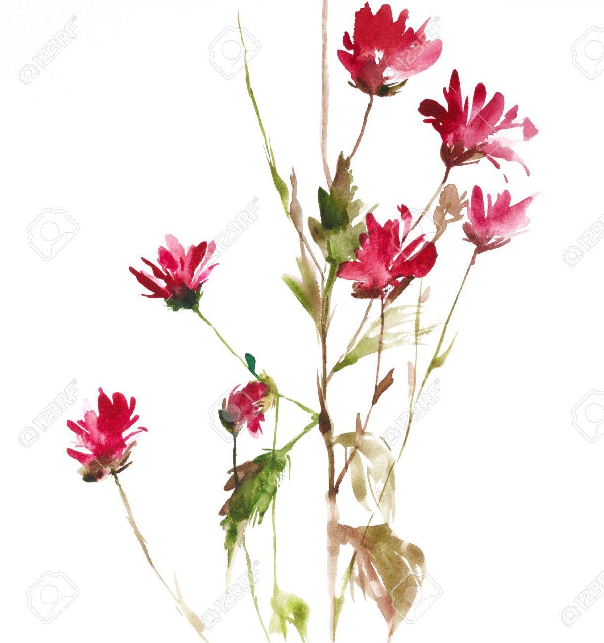 watercolor flowers Pesquisa Google Ink Pinterest