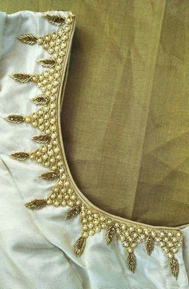 Pin de Priya Gunasekkaran en Saree blouses.   Pinterest   Bordado ...