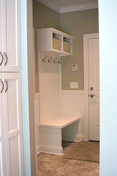 Tiny mud room outside bathroom bathroom ideas for Garage bathroom ideas