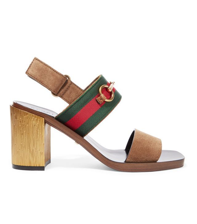How to stop shoes squeaking: Gucci Horsebit-Detailed Suede Sandals