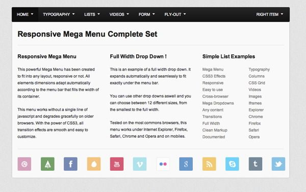 Mega Menu Examples Jquery Pinterest Menu And User Experience