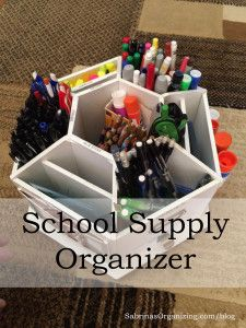 School Supply Organizer For Home Made Easy is part of School Organization Organizers - Home organization is so important for students  Here is a way to make school supply organizer for home to help your student succeed