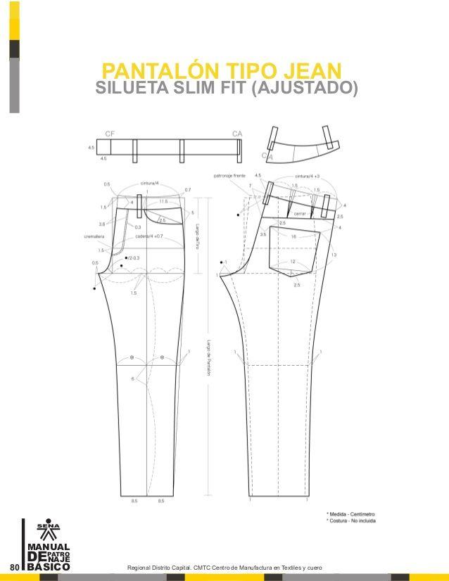 Manual de patronaje CMT - SENA | Patrones | Cucito, Modello ...