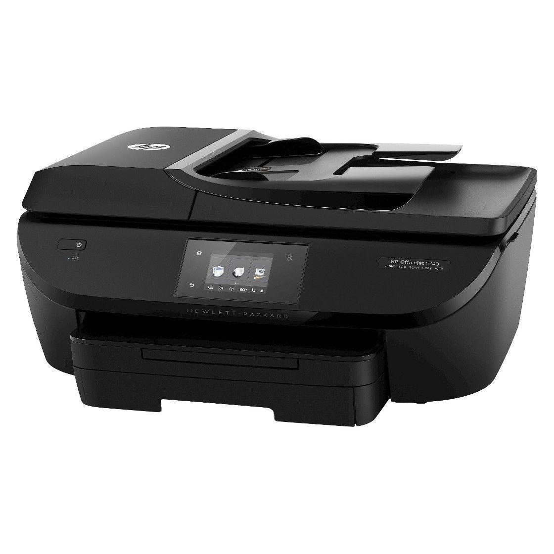 Hp Oj 5740 Color Multifunction Inkjet Printer Black B9s76a Hp Officejet Printer Mobile Print