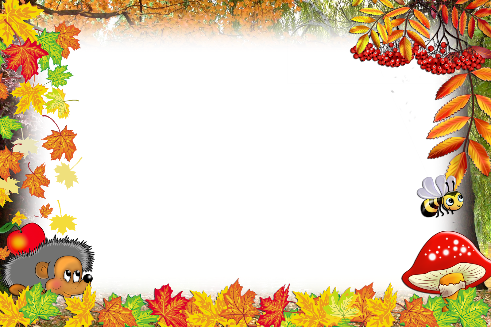 Шаблоны картинки осень, юбилеем лет
