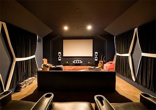 Theater Room Curtains On Wall In 2019 Home