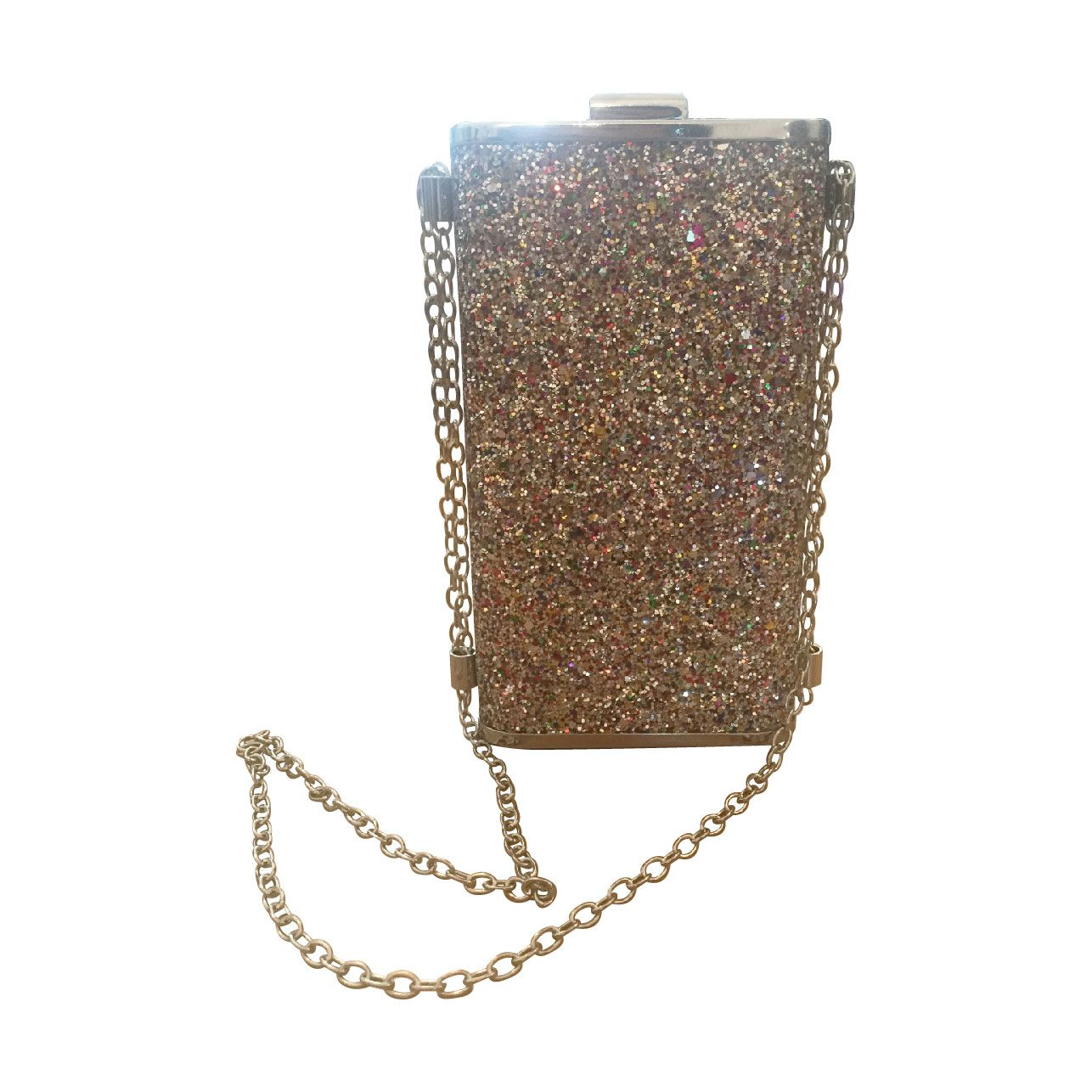 587fc71f95e1 Gold and Silver Sequinned Clutch Bag by Beth Jordan