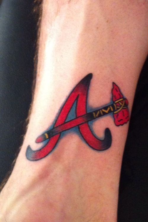 Pin By Atlanta Braves Fan Hq On Perfection In Words Atlanta Braves Tattoo Atlanta Tattoo Be Brave Tattoo