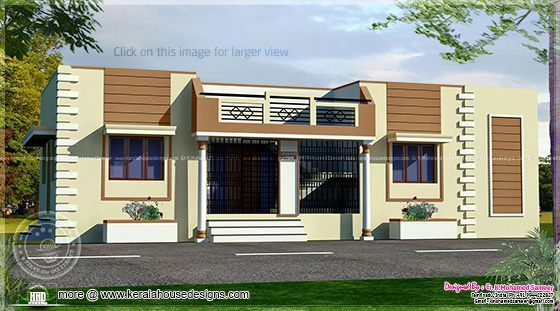 Tamilnadu Style Single Floor Home Architecture House