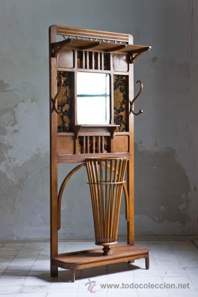 Antiguo mueble sombrerero paraguero a os 20 270 palo - Paragueros antiguos ...