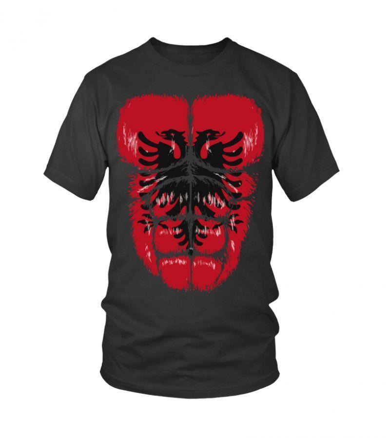 Shirt Baseball Outline Albania Muscles T Hulk Flag CnO4v5nxwq