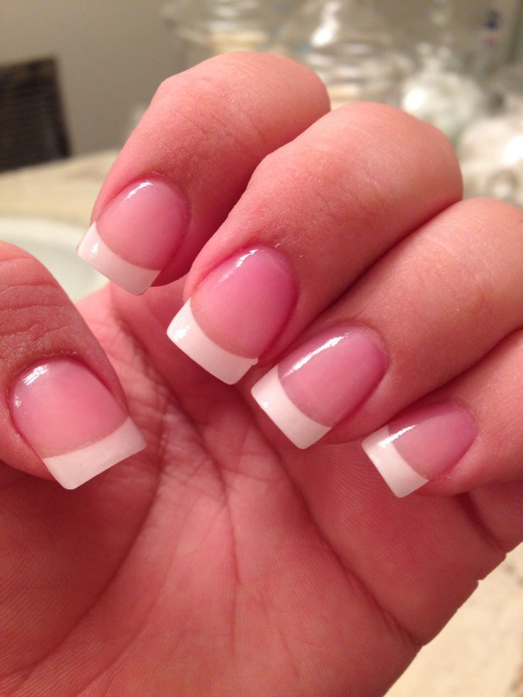 Classic french tip acrylic nails nail art pinterest this style of manicure is easy to do on yourself save these 60 gorgeous french nail designs for solutioingenieria Images