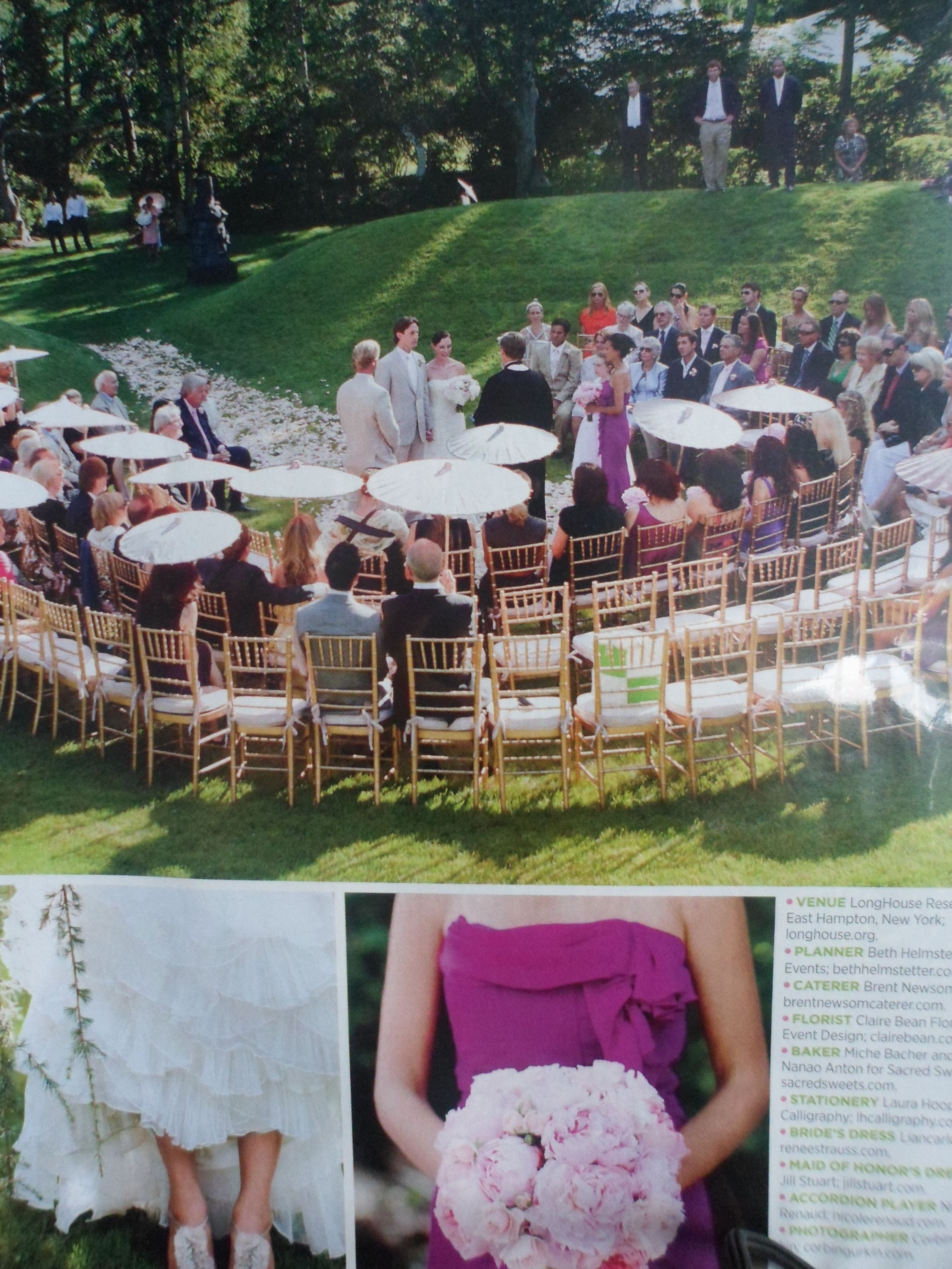out door wedding I love the close intimate feeling 3 perfect
