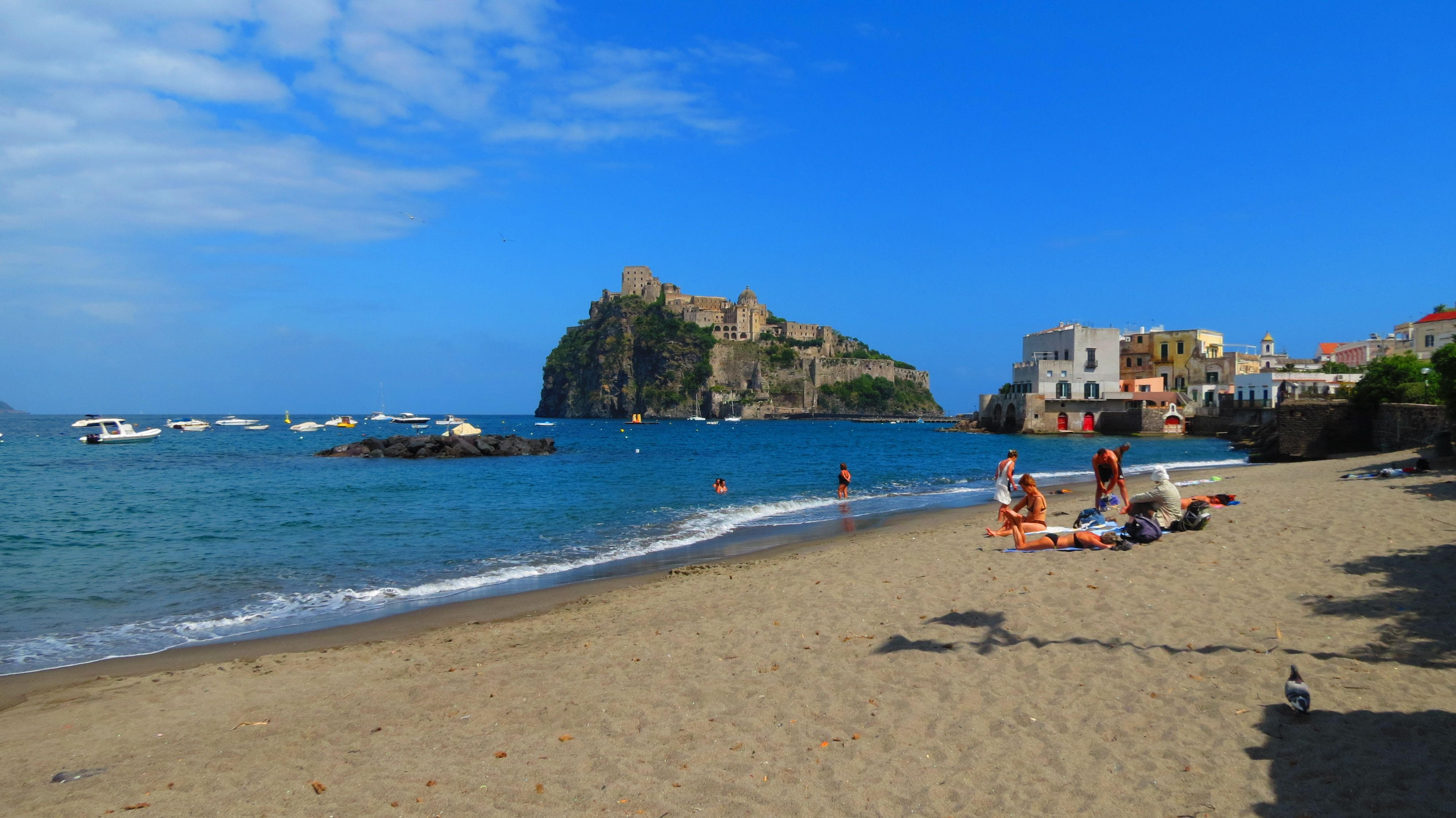 La Mandra beach in Ischia Ponte. Part of the Ischia Review