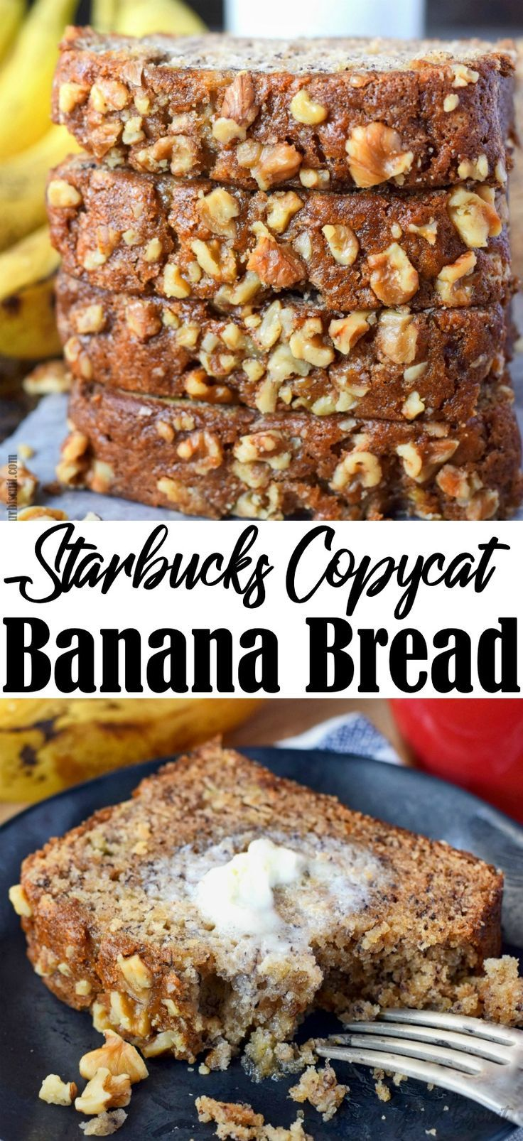 Banana Bread Starbucks Copycat Recipe - Butter Your Biscuit