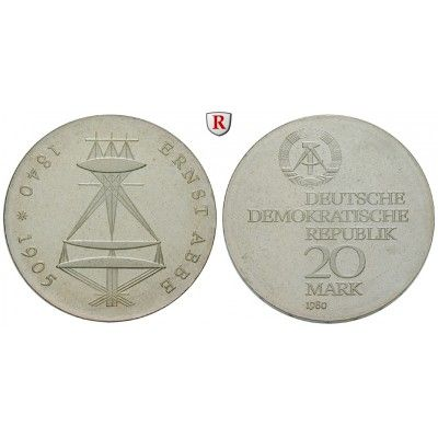 DDR, 20 Mark 1980, Abbe, PP, J. 1575 20 Mark 1980. Abbe
