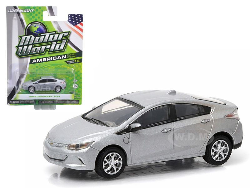 2016 Chevrolet Volt Silver 1 64 Diecast Model Car By Greenlight