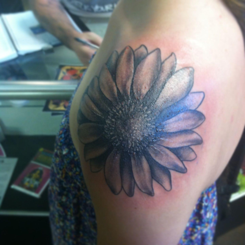 Tattoo. Sunflower tattoo. Sunflower. Urban art tattoo
