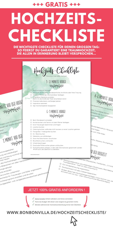 Checkliste Hochzeit Kostenlos