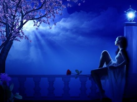 Fantasy Girl Hd Wallpapers Blue Moon Scenery Pictures