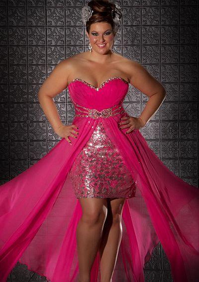 Fabulouss Hot Pink Plus Size Prom Dress by MacDuggal 76288F at ...