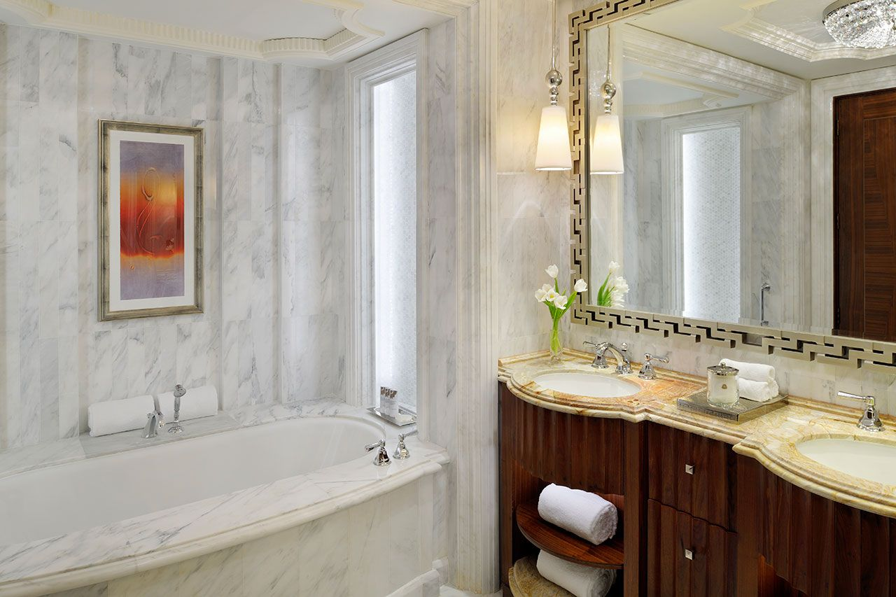Bathroom at the presidential suite pre renovation at the st regis - Hba Project The St Regis Abu Dhabi