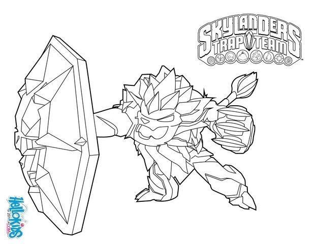 Skylanders Trap Team Coloring Pages Wildfire Colorful Drawings