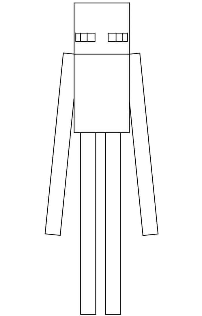 Minecraft Coloring Pages Enderman Minecraft Coloring Pages Coloring Pages To Print Halloween Coloring Pages