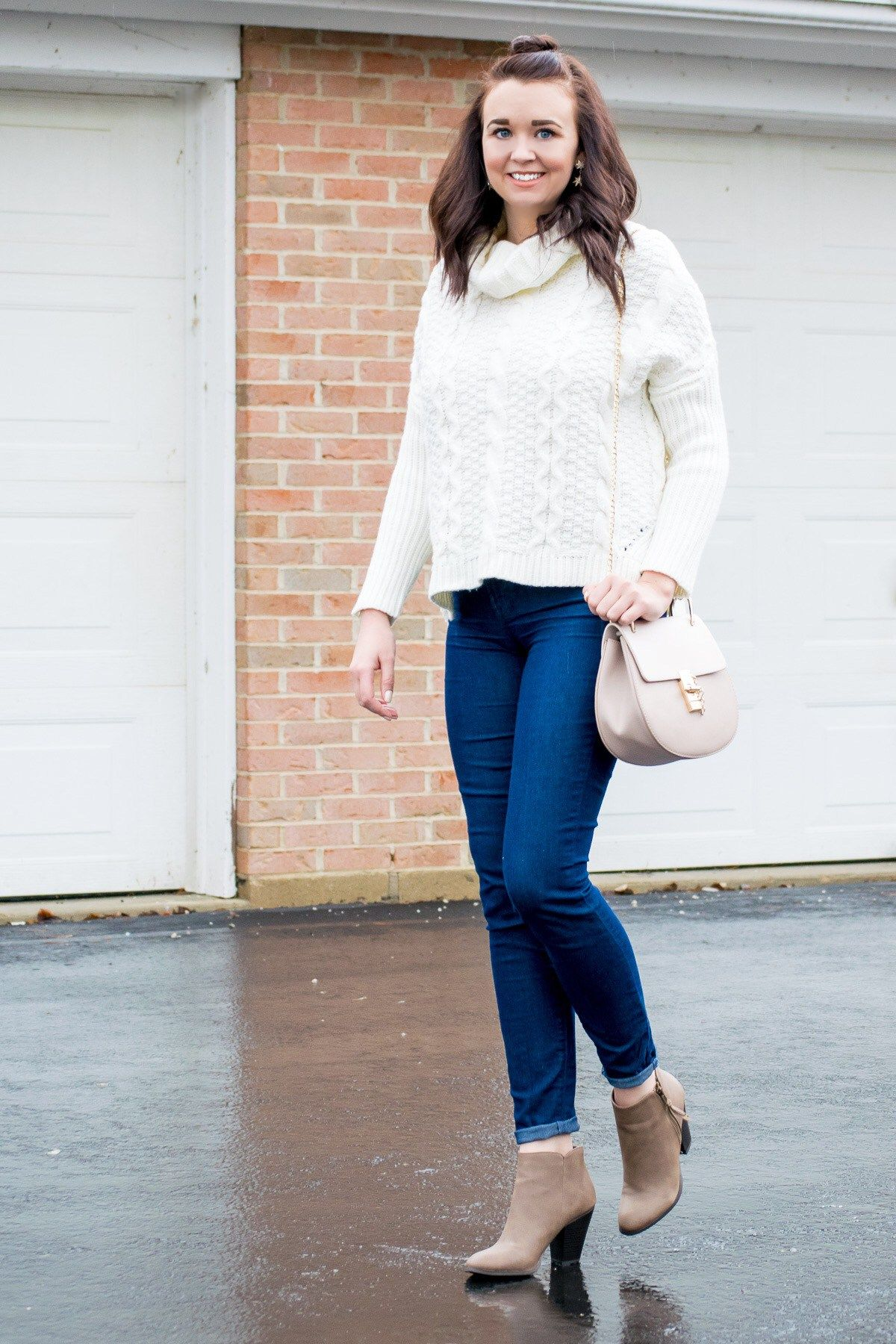 dfb1ca51072e An Affordable and Cozy White Turtleneck Sweater | ShopStyle ...