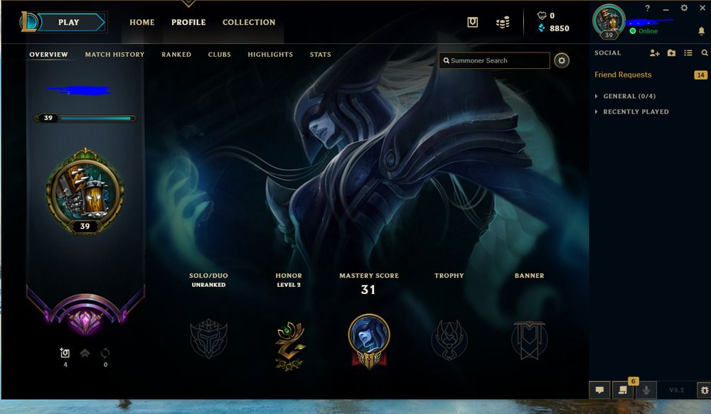 Master League Of Legends Account Season 8 Unranked Season 9 With Boarder Na Leagueoflegends Gamin League Of Legends Account League Of Legends Name Change