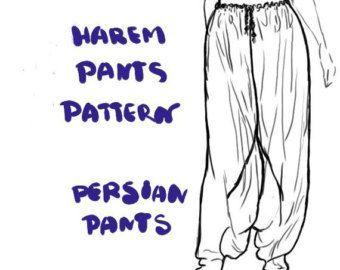 90s Mc Hammer Pants Harem Pants Yoga Pants Pattern Butterick 4940