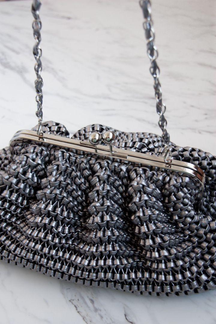 Photo of Dumpling nickel cloud pouch bag in bottega veneta clutch bag style