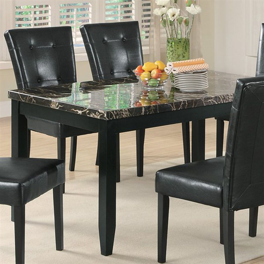 Coaster Fine Furniture Anisa Black Marble Rectangular Dining Table At Lowes