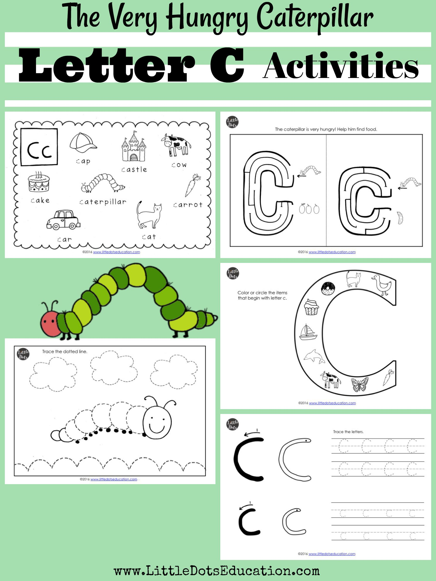 C Caterpillar Preschool Printable Worksheet C Best Free