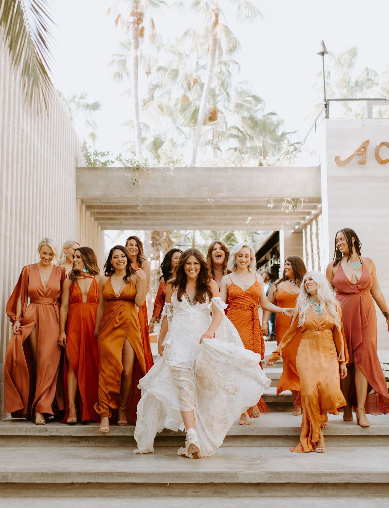 Totally Terracotta A Bold Wedding With Southwestern Bohemian