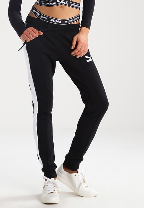 84c04c7b663a PUMA THE STREET- Tracksuit bottoms - black Women Clothing Trousers   Shorts   x0ZzjINs