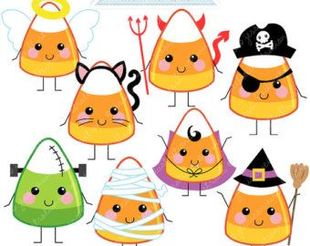 halloween cats cute digital clipart for commercial and personal rh pinterest com halloween clipart candy corn halloween clipart candy corn