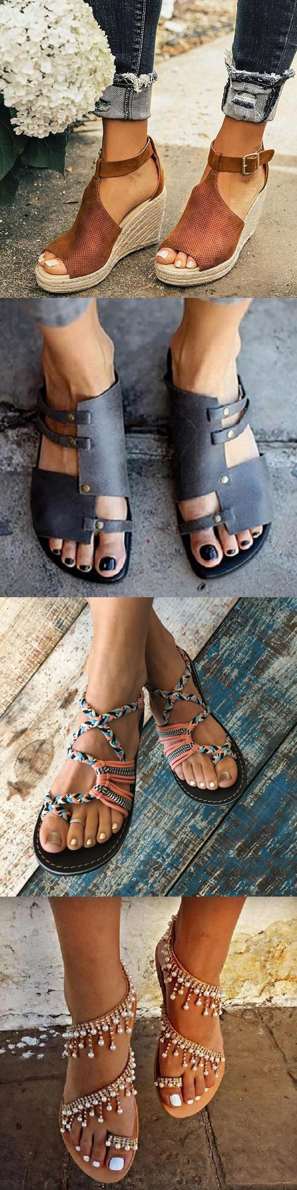 50+ Spring Summer Hot Selling #Sandals Shoes for You.The
