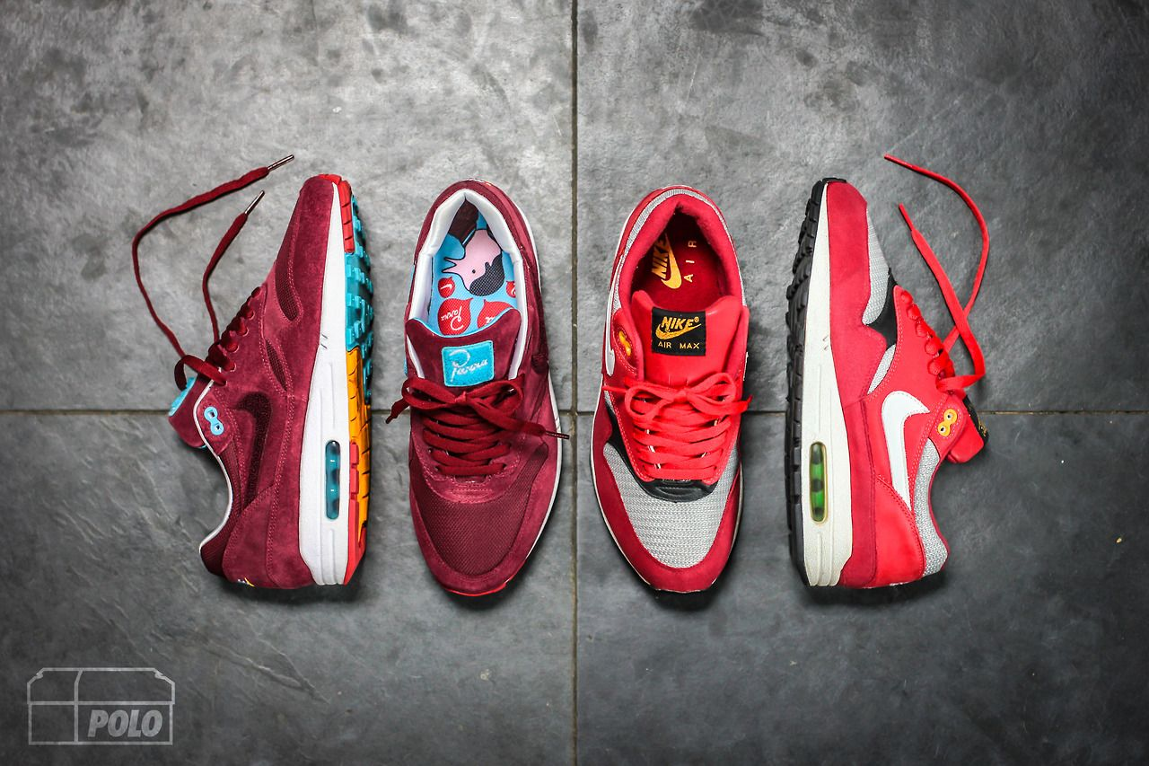 mikeepolo: Laceswap, what do you think?! Nike AM1 Burgundy