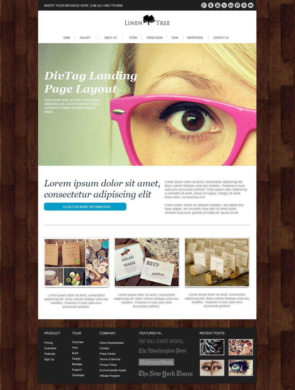 Beautiful Weebly Template - LinenTree is a dash of personality to a ...