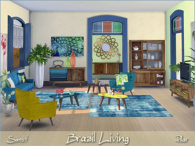 Sims 4 CC's The Best Brazil Living by Pilar Welt