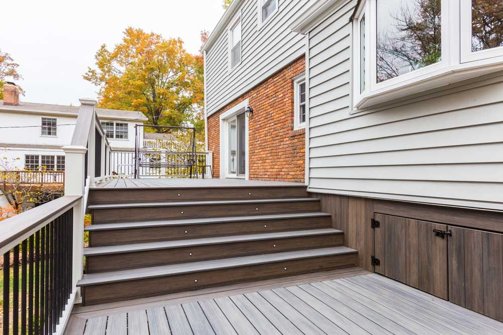 Best Deckorators Driftwood Ironwood Multi Level Large Stairs 400 x 300