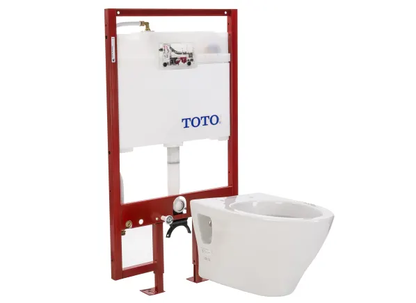 Toto Aquia Ct418fg 01 With Toto Duofit In Wall Tank System Wt151m Wt152m Toilet Consumer Reports Toilet Toto Bathroom Layout
