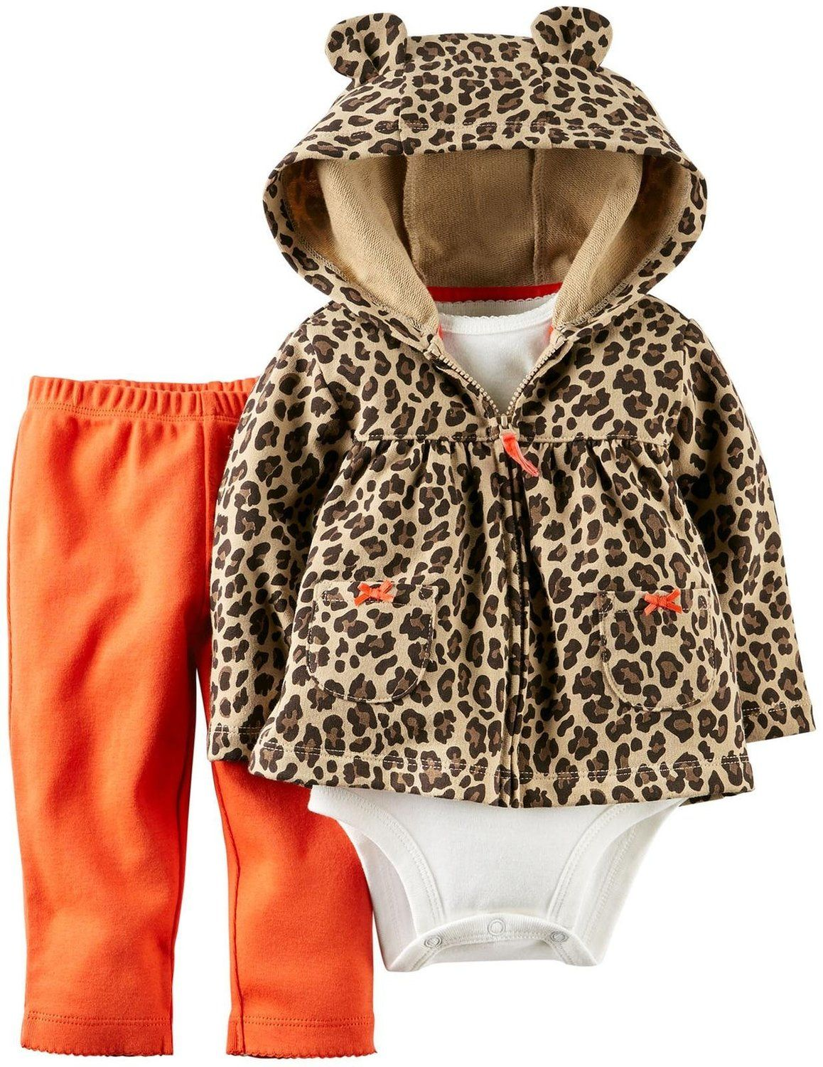 Amazon.com: Carter's Baby Girls' 3 Piece Hooded Cardigan Set (Baby): Clothing