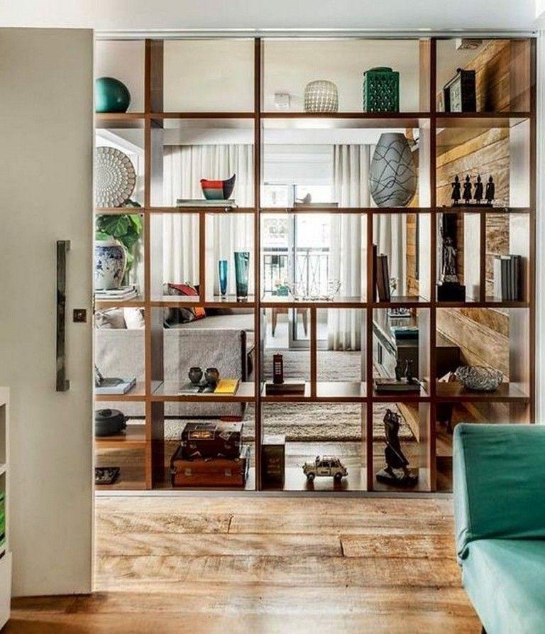 51 Lovely Open Kitchens With Unique Partitions And Room Dividers Kitchendesign Kitchenremode Room Divider Shelves Bookshelf Room Divider Living Room Divider