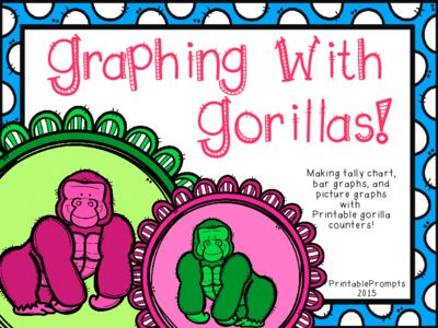 Graphing with Gorillas! from PrintablePrompts on TeachersNotebook