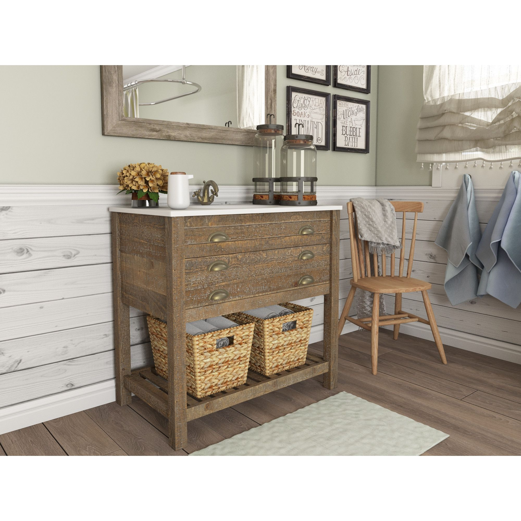 Sets bathroom vanity ari kitchen second - August Grove Gabrielle 36 Single Bathroom Vanity