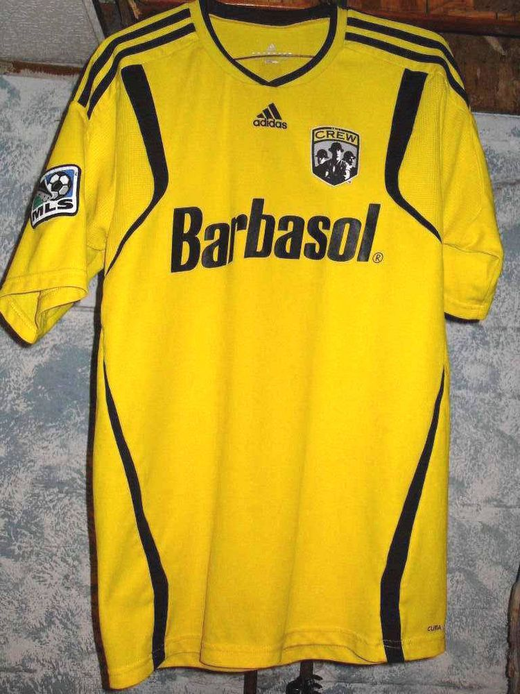 Adidas The Columbus Crew Barbasol MLS Home Soccer Jersey Clima Cool  adidas   ColumbusCrew fb2aa9060